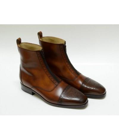 Secchiari Ankle Boots Antique Brogue 1 zip