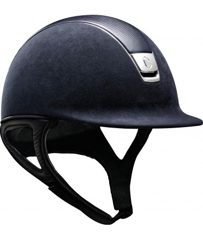 Samshield Helmet Premium Blue + Top Leather + Chrome