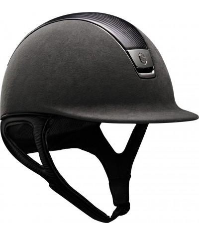 Samshield Cap Premium Grey + Top Leather + Chrome Black